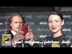 Outlander Premiere - Sam Heughan & Caitriona Balfe - YouTube