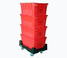 rolling stackable storage