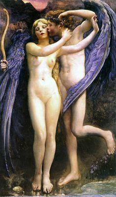Cupido e Psiche 1891, Annie Louisa Swynnerton  (1844-1933) #art #amoreepsiche #enicultura