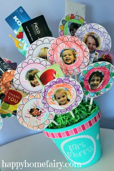 Teacher gift card bouquet