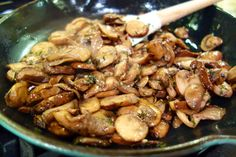 Bourbon Mushrooms | Plain Chicken