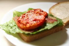 Oven Roasted Tomatoes and an Italian BLT