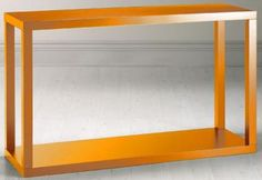 parsons console table (not in orange) and might prefer closed storage