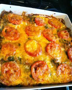 pesto and prosciutto breakfast strata http://www.agirlandherfood.com/2013/10/pesto-and-prosciutto-breakfast-strata.ht