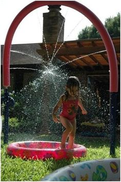 Beat the Heat for Cheap with These Five DIY Sprinklers pool noodles, water play, summer activities, outdoor play, backyard, pvc pipes, the heat, water parks, kid