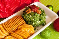 Cheese ball dip is a great snack for an ugly sweater Christmas party!