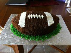 Football cake for superbowl