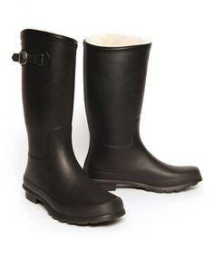 Look what I found on #zulily! Black Nelson Rain Boot - Women #zulilyfinds