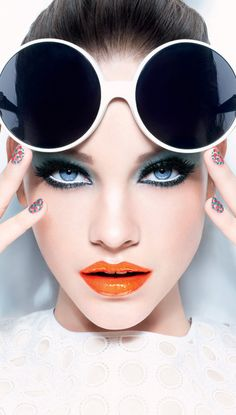 #icyblue #drama #intense #smokey #eyes and #orange #lips, #fake #eyelash and #red #lips - for more #perfect #makeup #inspiration, MyBeautyCompare Pinterest #bbloggers #sexy #chic #glam #elegant #stunning #lips #nude #hair #cheeks #earrings #eyebrow #define #shape #contour #skin #flawless #nightout #event #contour