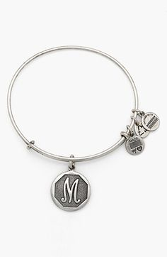 Alex and Ani 'Initial' Adjustable Wire Bangle | Nordstrom