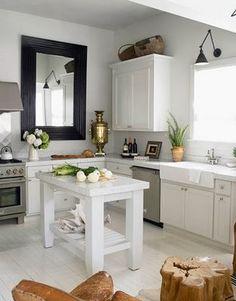nice kitchen--big mirror