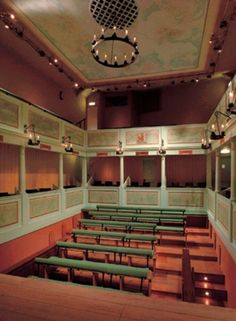 The restored auditorium of the Georgian Theatre, Richmond