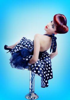 pin up hair and polka dots!