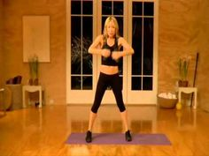 Tracy Anderson p.5 hands, 8 min., light weights