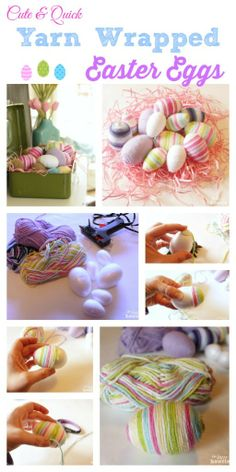 yarn wrap, quick yarn, easter eggs