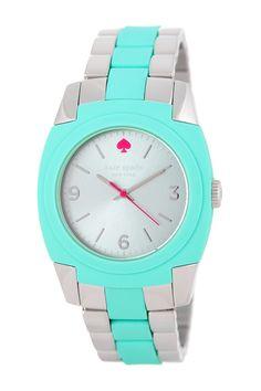 skyline two-tone mint watch