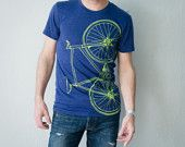 elephants, indigo, cotton, bicycles, shop, green bicycl, adult tshirt, limes, gift idea
