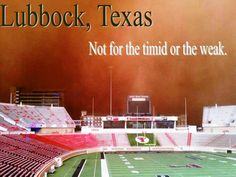 Welcome to Lubbock.