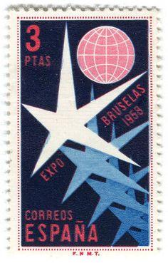Spanish stamp. 3PTAS