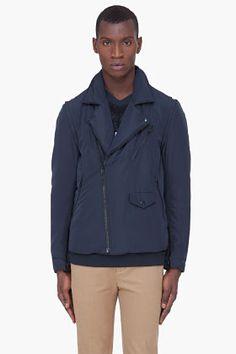 3.1 PHILLIP LIM Midnight Blue Padded Vest Jacket
