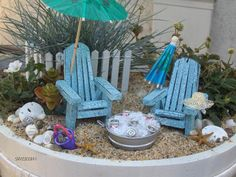 In love with this Fairy Garden!  Can be assembled in a flower pot