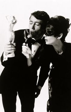 Audrey Hepburn & Peter O'Toole - promotional shot for 'How To Steal A Million' (Wyler, 1966). (FAVORITE MOVIE)
