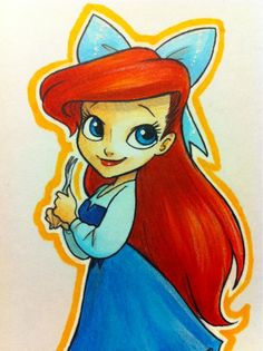 When one tires of drawing Disney gals, one is tired of life.