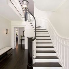 traditional staircase by Clawson Architects, LLC