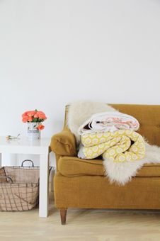 Mustard yellow couch