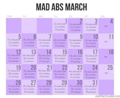 So I failed miserably at keeping up with Fab Ab February, but luckily there is Mad Abs March!