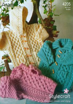 Stylecraft--Duffle Jackets and Sweater (ages 1 - 10)