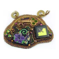 The Key to My Heart  Bead Embroidered Steampunk by 4uidzne on Etsy, $165.00