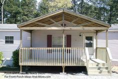 picture of front porch roof design | Porch Designs for Mobile Homes | Mobile Home Porches | Porch Ideas for ...