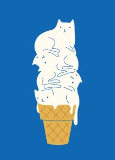 Cats Ice Cream Art P