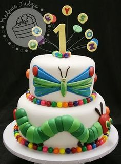 Another really cute Hungry Caterpillar cake!