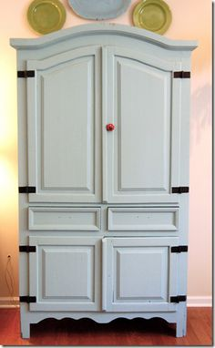 Love this color for a crafty cabinet