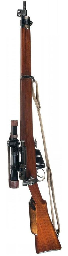 British .303 Lee-Enfield MkI(T) sniper rifle. Pinned via: http://pinterest.com/popeyelad/firearms-snipers-things-military/