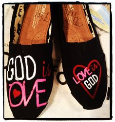 God is Love Custom Toms Shoes.