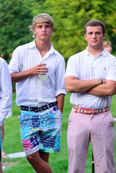 awesome guys in lilly pulitzer shorts.