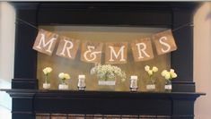 Burlap Banner - how to make it.