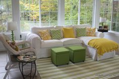 color palettes, couch, chaise lounges, sunrooms, happy colors, sunroom inspir, sitting rooms, tv rooms, sun room