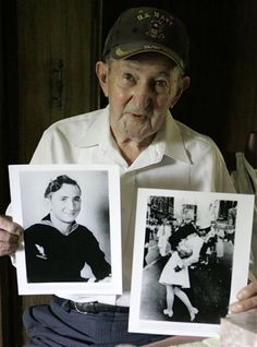 awesome!!! :) ... the man from the famous photo.....end of WWII I got that photo printed on a shirt I love it so much!