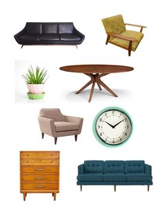 Shopping Guide: Mid Century Furniture and Accessories