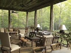 Great idea for porch at S.L. cabin.....   Original_Photog_Beall-and-Thomas-back-porch-mountains_s4x3