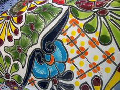 I Love the colors and patterns of Talavera pottery.