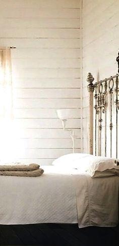 minimal antique bedroom