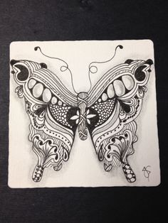 Butterfly (Zentangle Inspired Art)