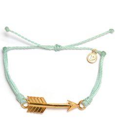 Gold Arrow Seafoam Bracelet