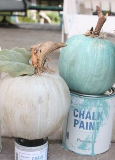 Add a touch of Fall to your décor without compromising your beach style. Paint white pumpkins in colors that match your beach color palette.