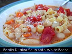 Barilla Ditalini Soup with White Beans Recipe